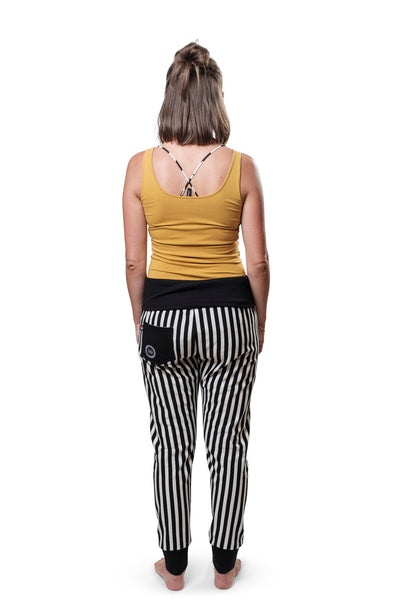 "Yogahose ""Cosy Stripes"" black & white // Limited Edition"