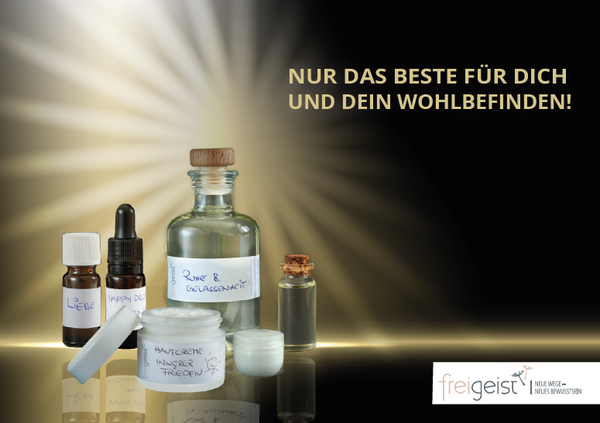 """Love"" Päckchen mit Freigeist-Hautöl & Young Living Roll on ""Breathe Again"""