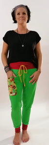 "Yogahose ""The Spring"" grün/rot // Limited Edition"