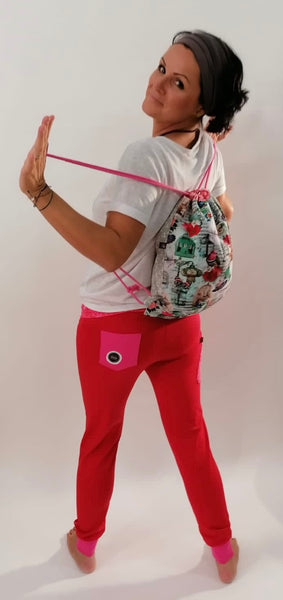 "Yogahose ""Pink/rot Ornamente"" // Limited Edition"