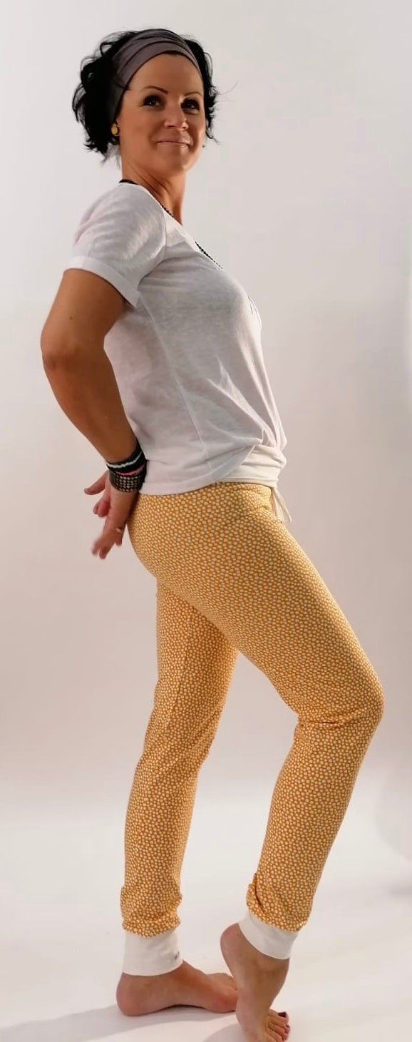 "Yogahose ""Yellow/white Dots"" // Limited Edition"