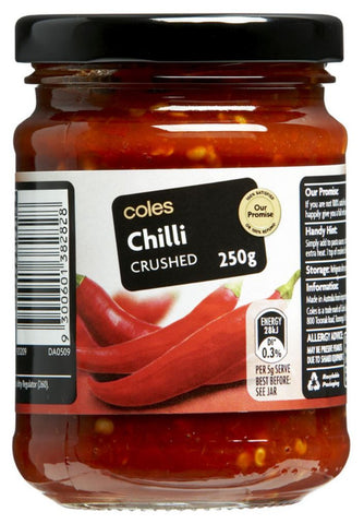 Coles Crushed Chilli 230g