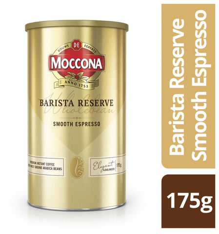 Moccona Barista Reserve Smooth Espresso Instant Coffee 175g