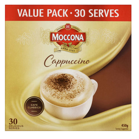 Moccona Cappucinno Coffee Sachets 30 Pack