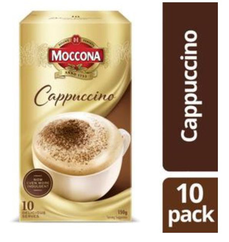Moccona Cafe Classics Cappuccino Coffee Sachets 10 pack