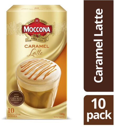 Moccona Cafe Classics Caramel Latte Coffee Sachets 10 pack