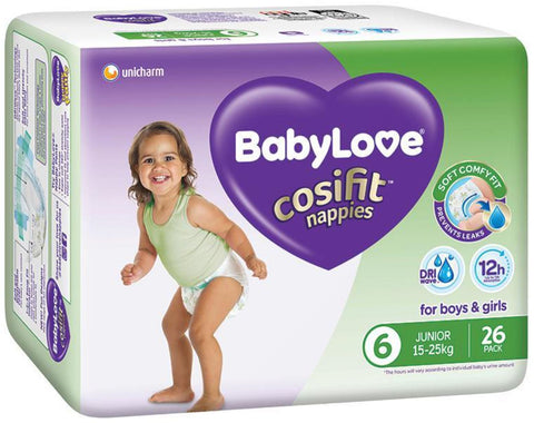 BabyLove Cosifit Bulk Nappies Junior 26 Pack