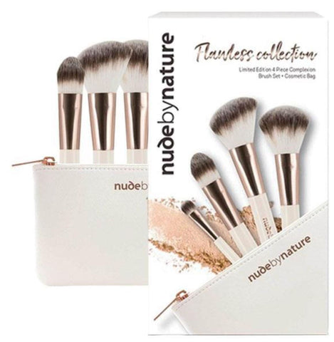 Nude by Nature Flawless Collection 4 Piece Complexion Brush Set
