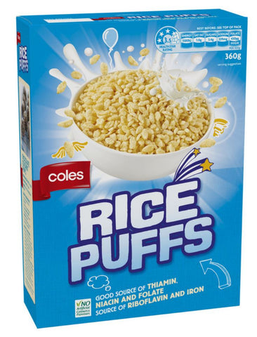 Coles Rice Puffs Kids Breakfast 360g