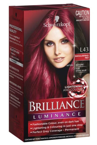 Schwarzkopf Brilliance Luminance L43 Smoulder Red