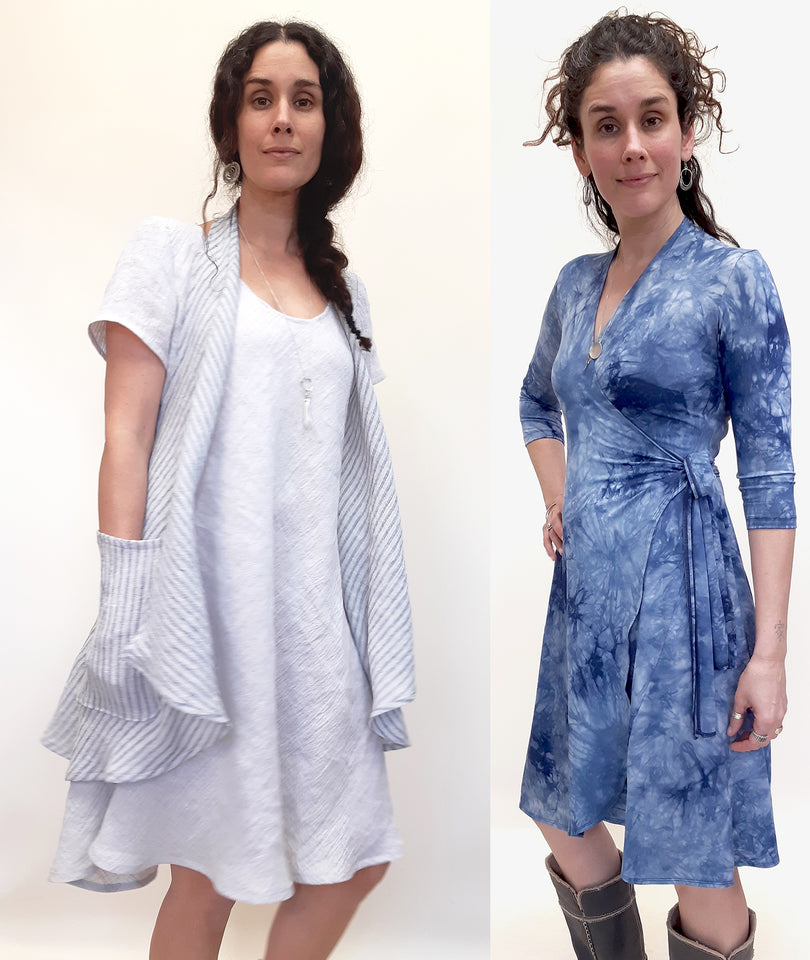 Linen and Bamboo Dresses Natural Fibre Sustainable Fashion by Brenda Laine Designs
