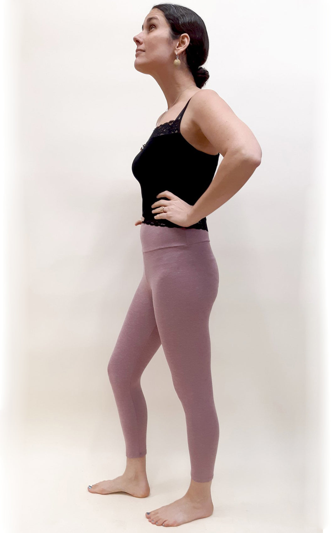 Bamboo Capri Tights - Rose Brown Heather