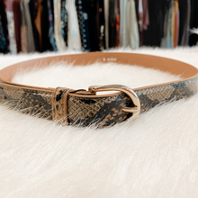 Golden/Brown Snakeskin Belt