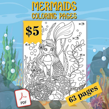 Mermaids Coloring Pages - AmberForrest