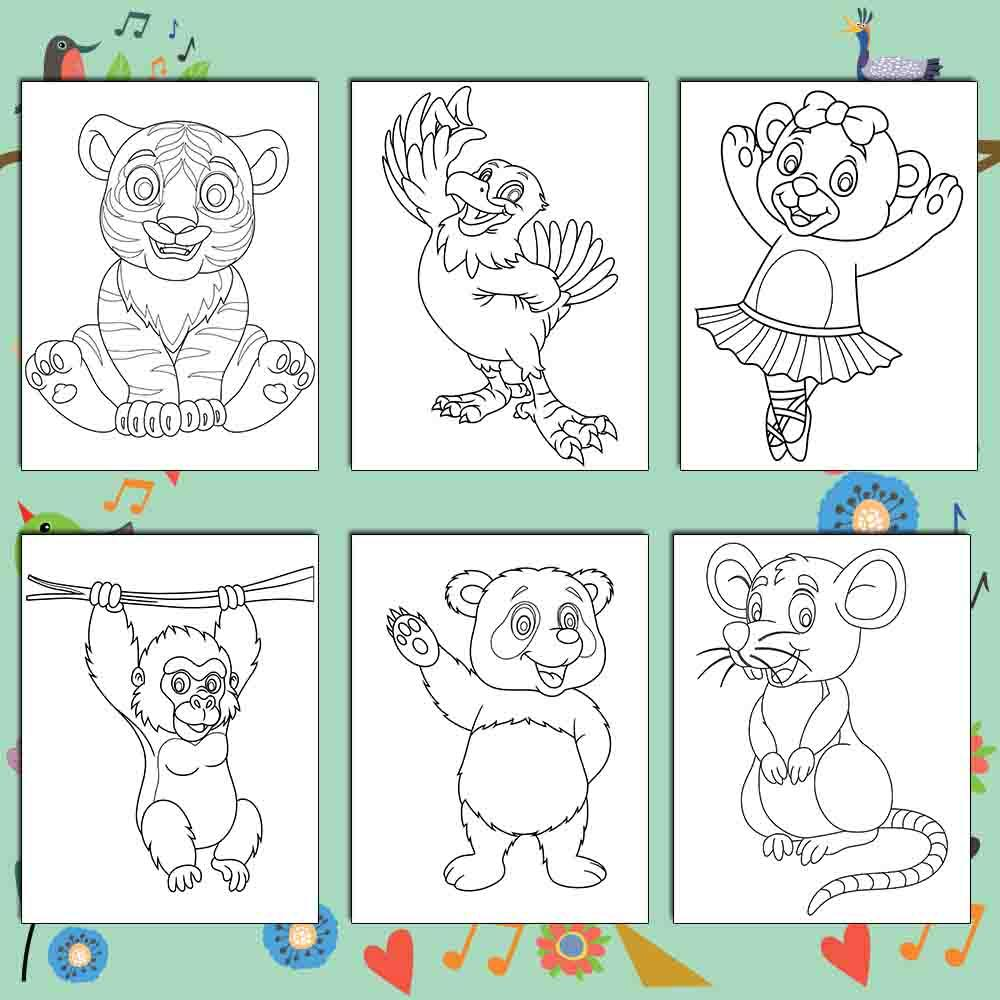 Awesome Animals Coloring Pages