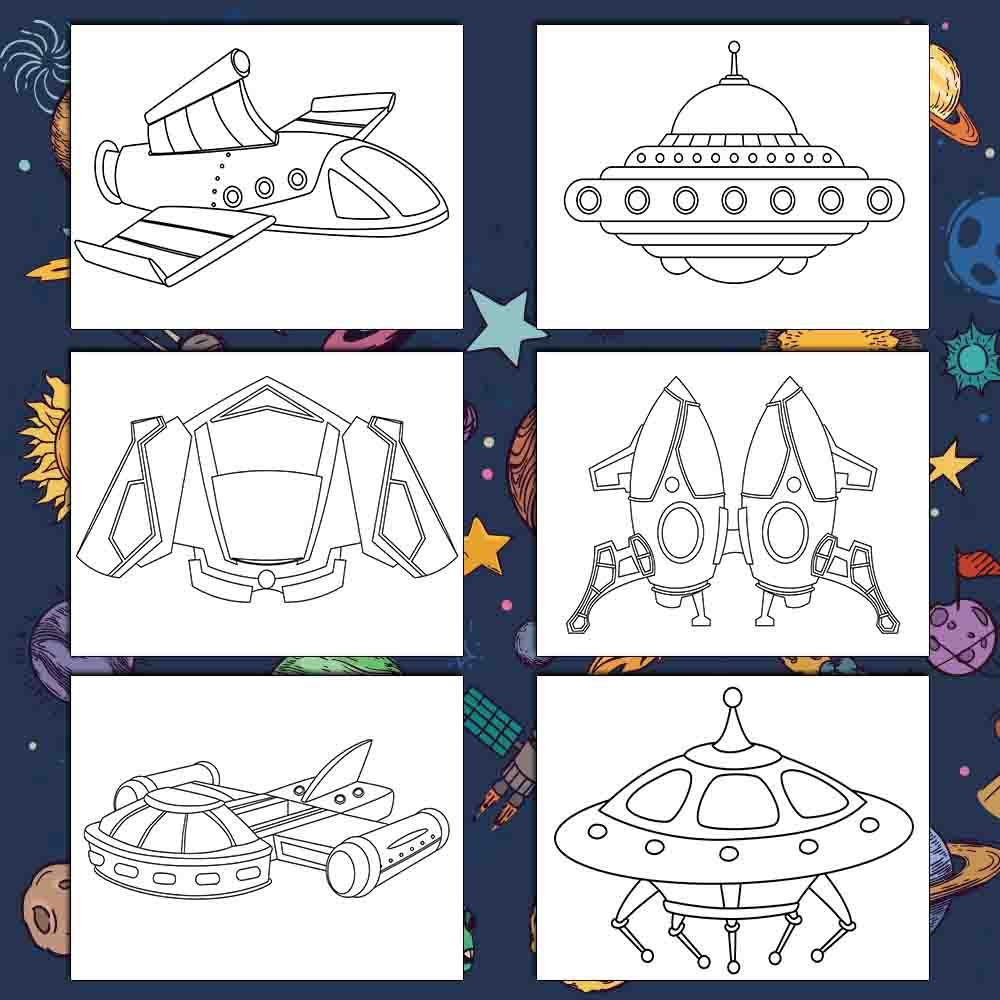 Super Space Coloring Pages - AmberForrest