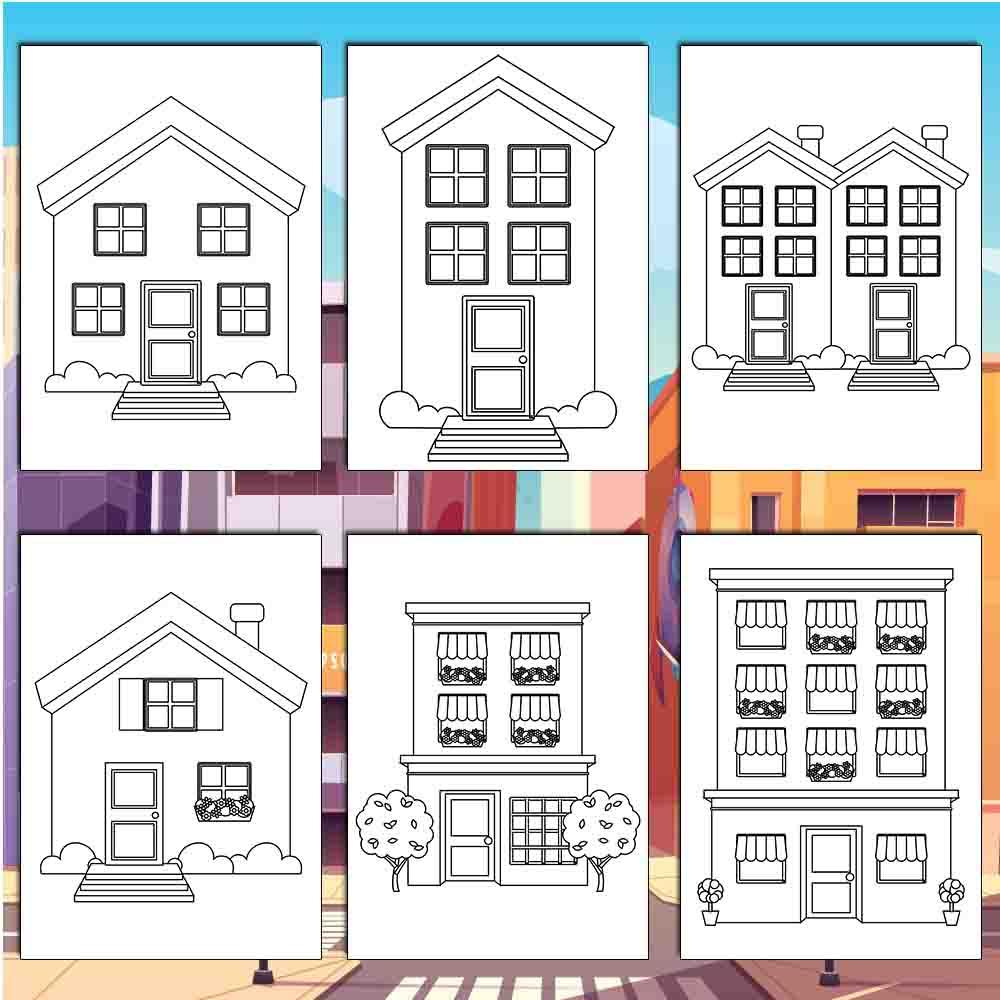 Houses & Buildings Coloring Pages