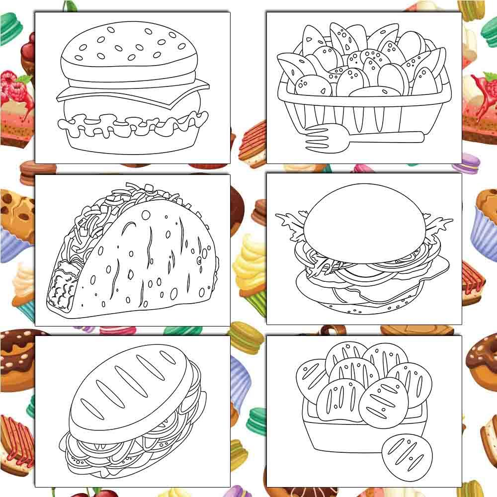 Yummy Food Coloring Pages