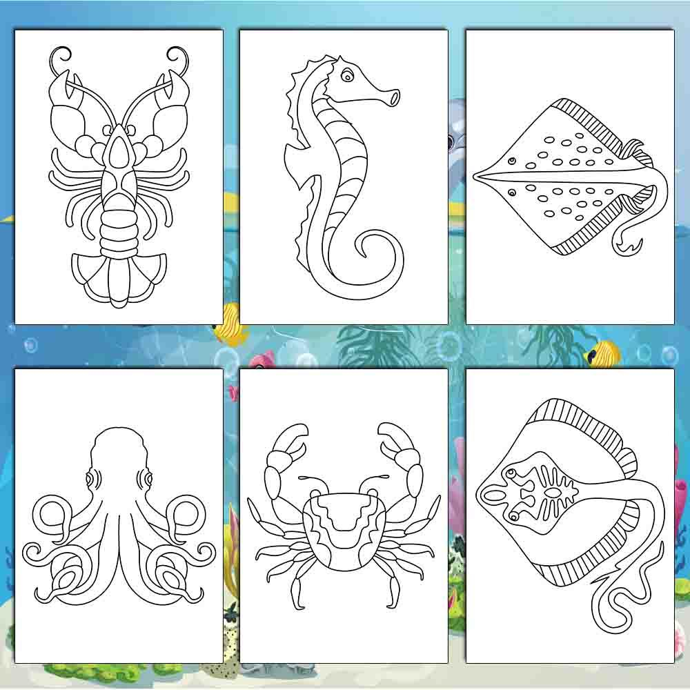 Sea Creatures Coloring Pages - AmberForrest