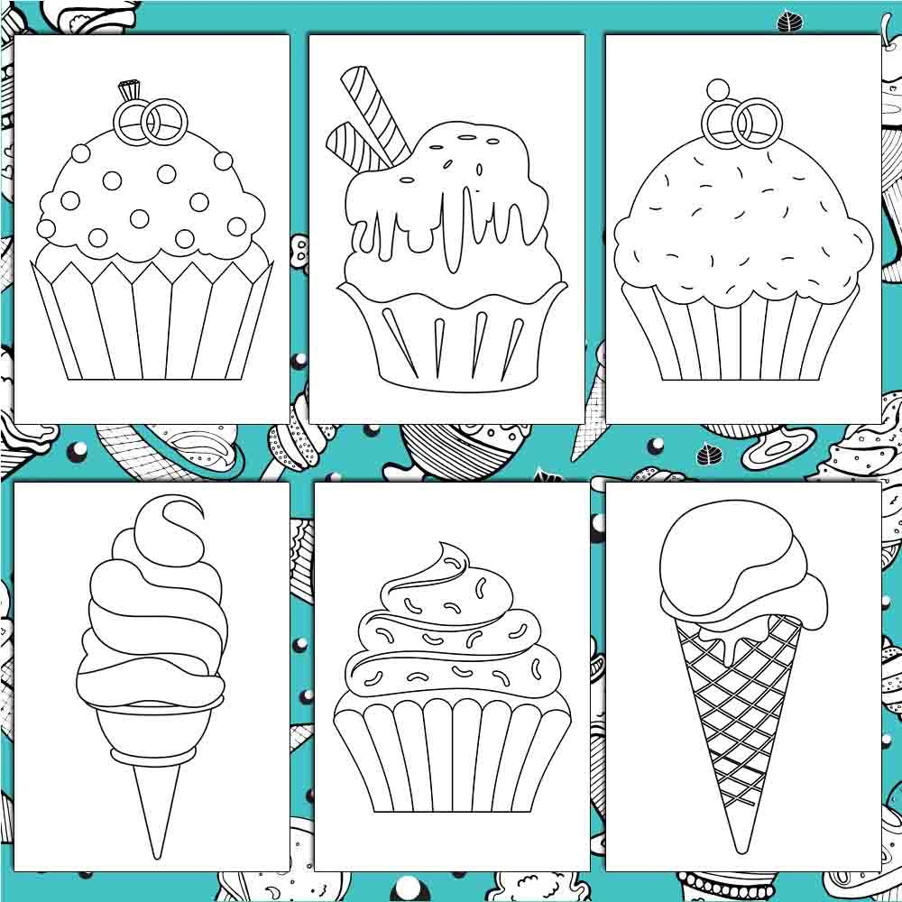 Delicious Desserts Coloring Pages Amberforrest