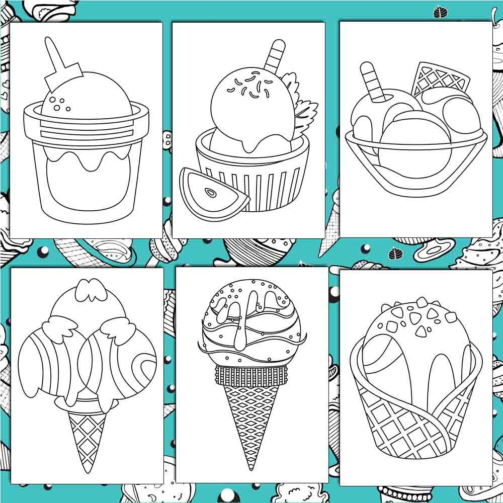 Delicious Desserts Coloring Pages - AmberForrest
