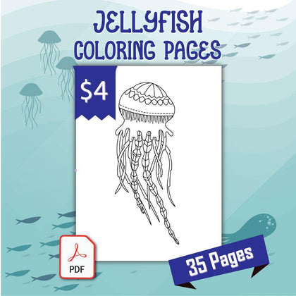 Jellyfish Coloring Pages - AmberForrest