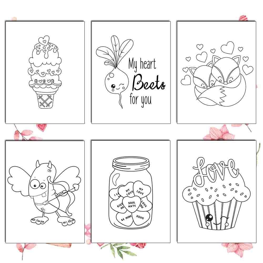 Valentines Day Coloring Pages - AmberForrest