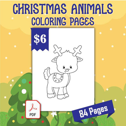 Christmas Animals Coloring Pages - AmberForrest