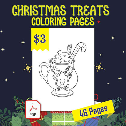 Christmas Treats Coloring Pages - AmberForrest