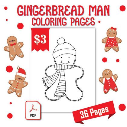 Gingerbread Man Coloring Pages - AmberForrest
