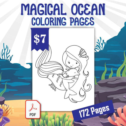 Magical Ocean Coloring Pages