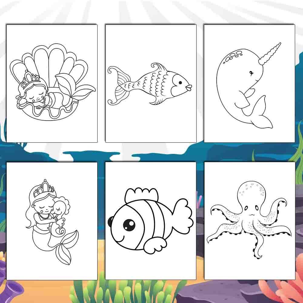 Magical Ocean Coloring Pages - AmberForrest