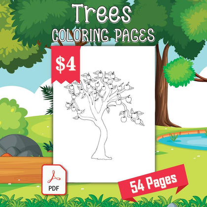 Trees Coloring Pages - AmberForrest