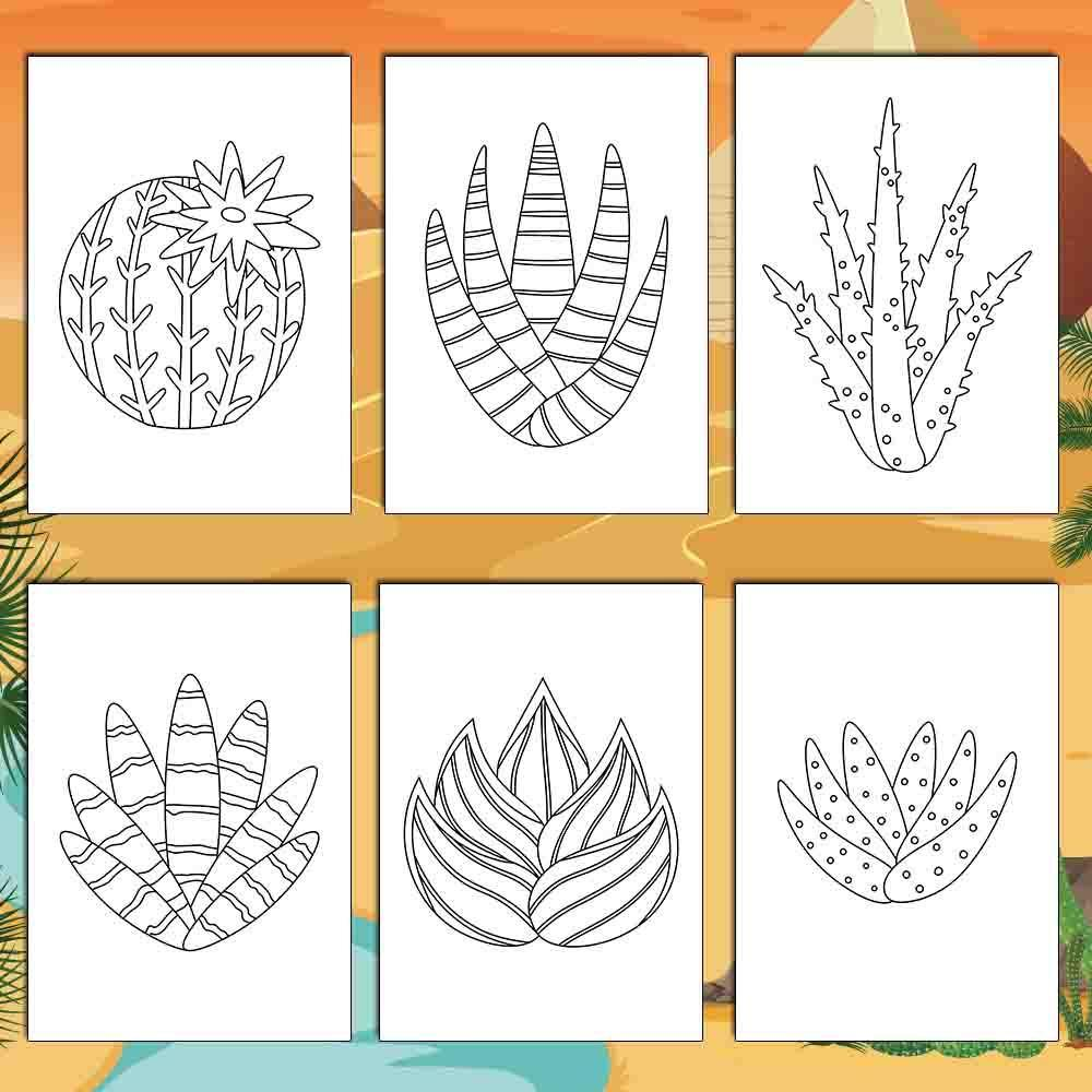 Cactus Coloring Pages - AmberForrest
