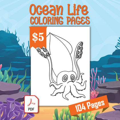 Ocean Life Coloring Pages - AmberForrest