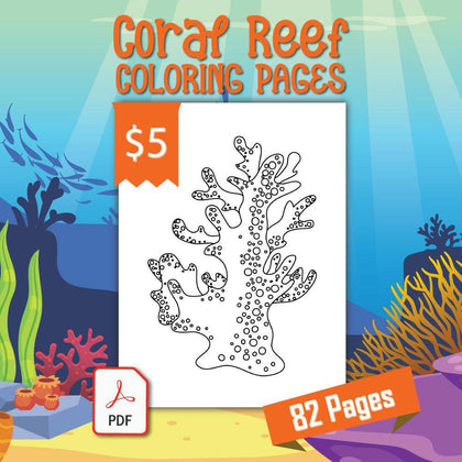 Coral Reef Coloring Pages - AmberForrest
