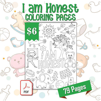 I am Honest Coloring Pages