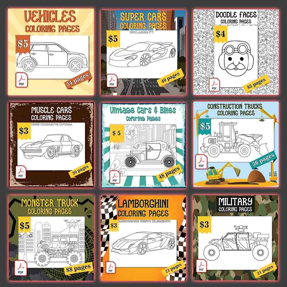 Mega Bundle 4800+ Coloring Pages