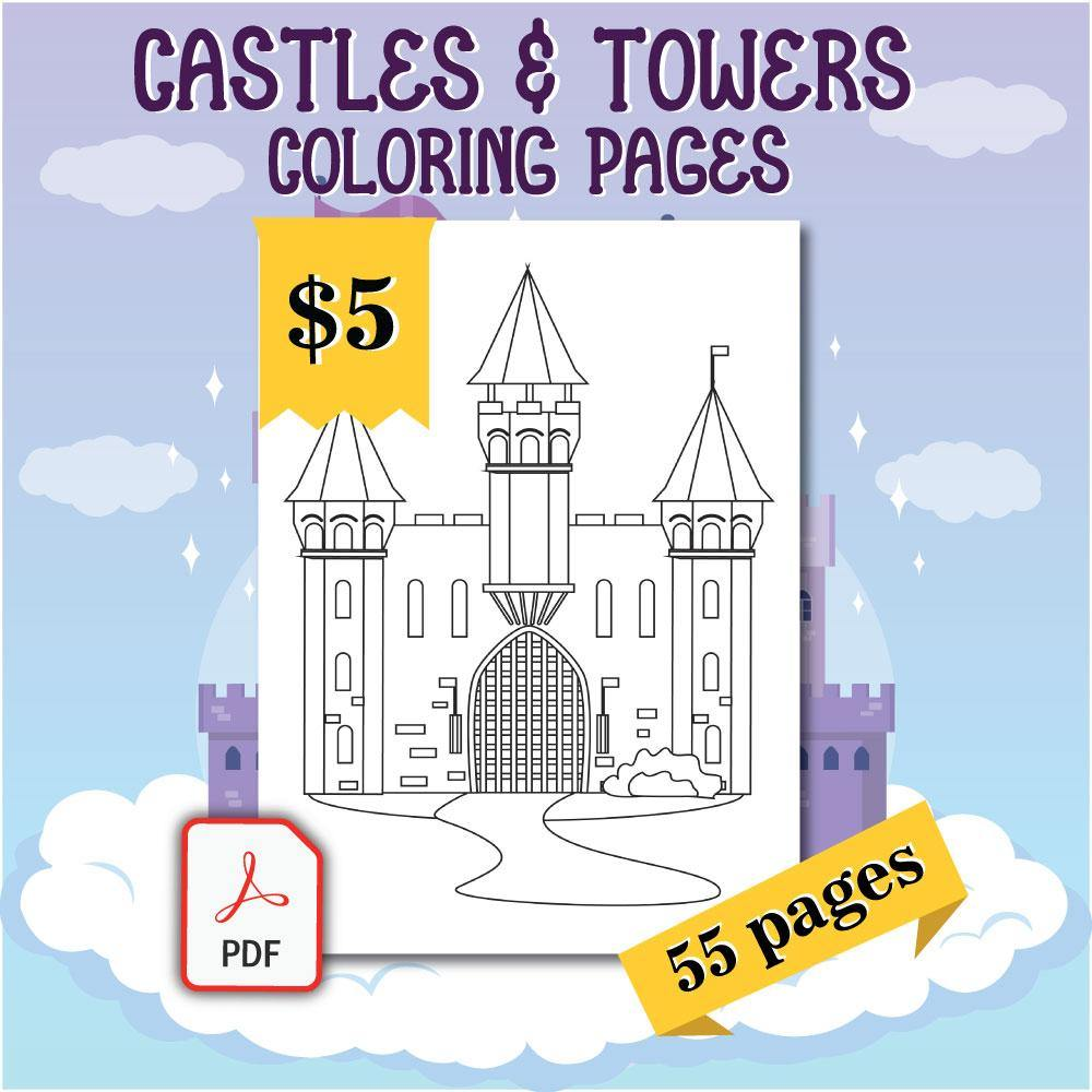 Castles Towers Coloring Pages Amberforrest