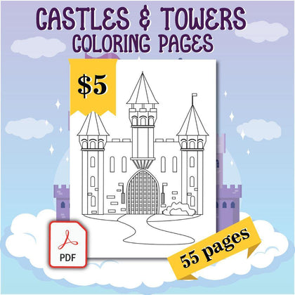 Castles & Towers Coloring Pages - AmberForrest