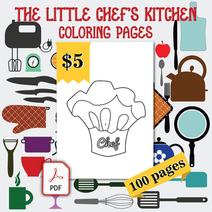 The Little Chef's Kitchen Coloring Pages - AmberForrest