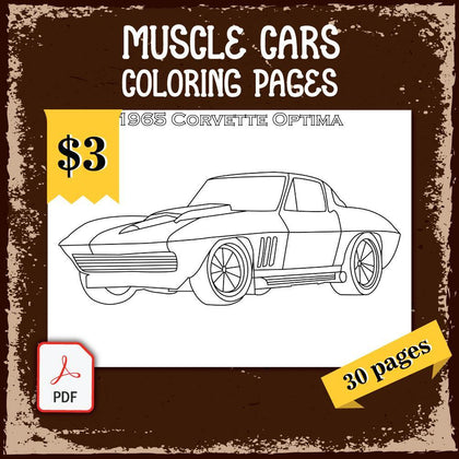 Muscle Cars Coloring Pages
