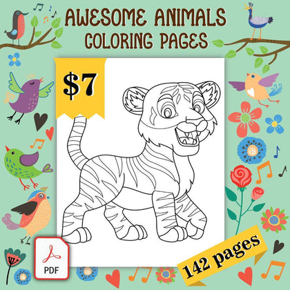 Awesome Animals Coloring Pages - AmberForrest