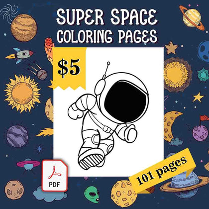 Super Space Coloring Pages