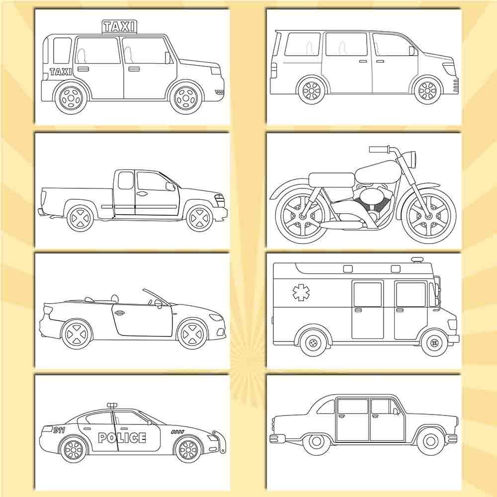 Vehicles Coloring Pages - AmberForrest