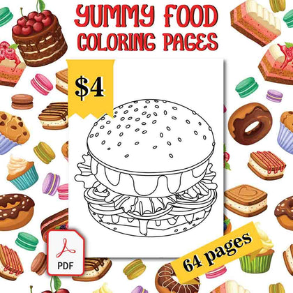 Yummy Food Coloring Pages - AmberForrest