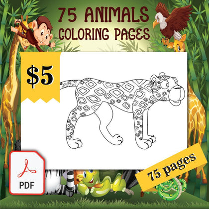 75 Animals Coloring Pages