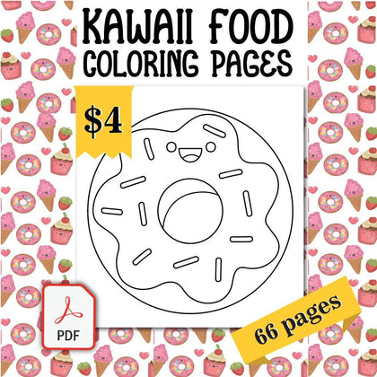 Kawaii Food Coloring Pages - AmberForrest