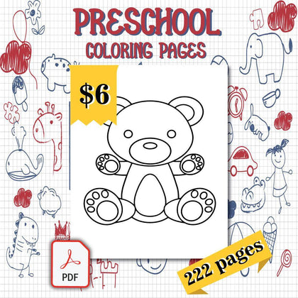 Preschool Coloring Pages - AmberForrest