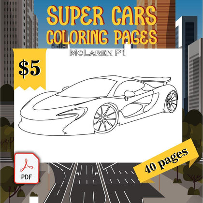 SuperCars Coloring Pages - AmberForrest